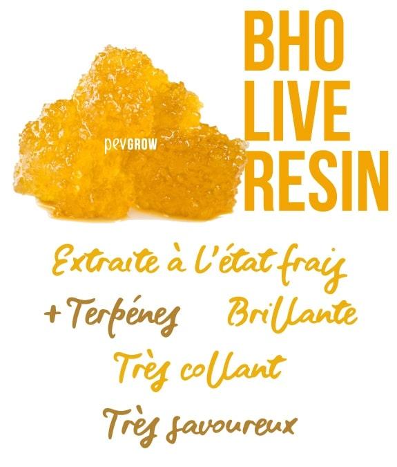 Image du Live Resin sur le point d'être consommée*