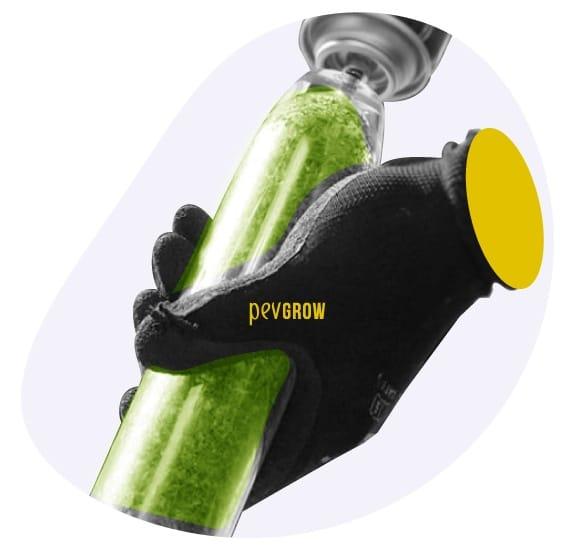 Fotografía de la descarga del BHO en un tubo de borosilicato*