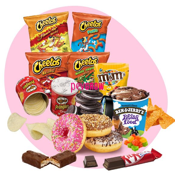Image of an assortment of Munchies to enjoy after smoking cannabis*