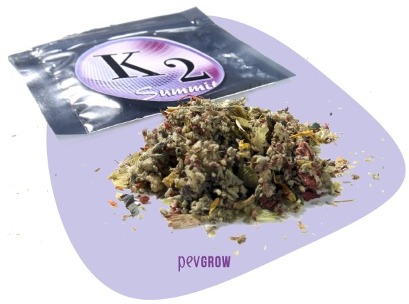 Image of a K2 package of synthetic weed*