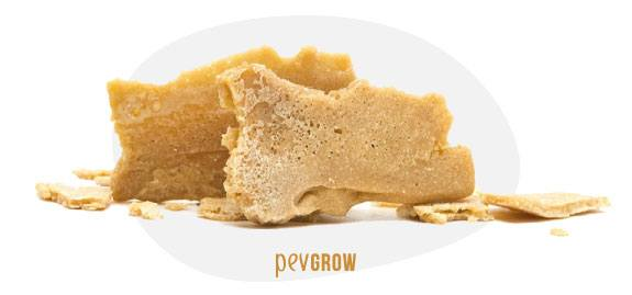 Image of how the THCA rosin looks after several pressure applications*
