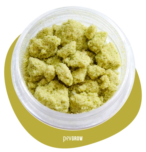 Image of Kief ready to press and turn into Rosin*