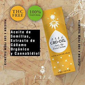 Aceite CBD ARAE libre de THC