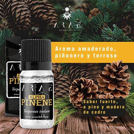 Alfa Pineno ARAE sabor y aroma
