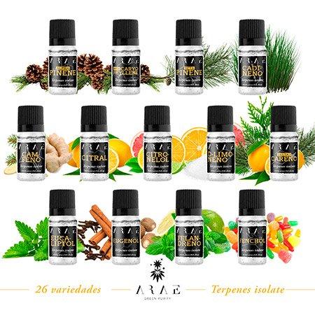 Todas las variedades de terpenos de ARAE