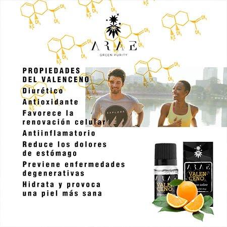 Valenceno ARAE propiedades